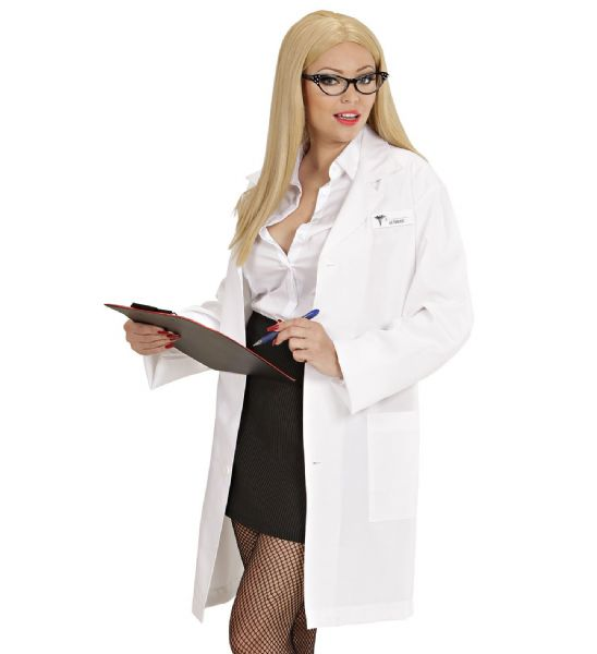 Adults Lab Coat with Name Tags Doctor Scientist Fancy Dress